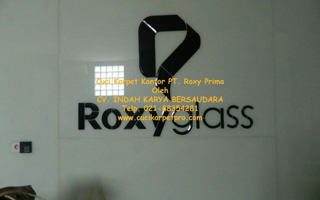 Cuci karpet kantor PT Roxy Prima Indoproducts | Cuci Karpet