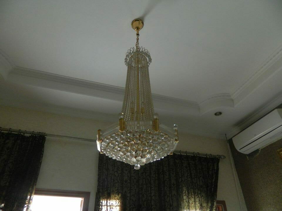 Cuci lampu kristal ibu Nadya | Jasa Cuci Lampu Kristal