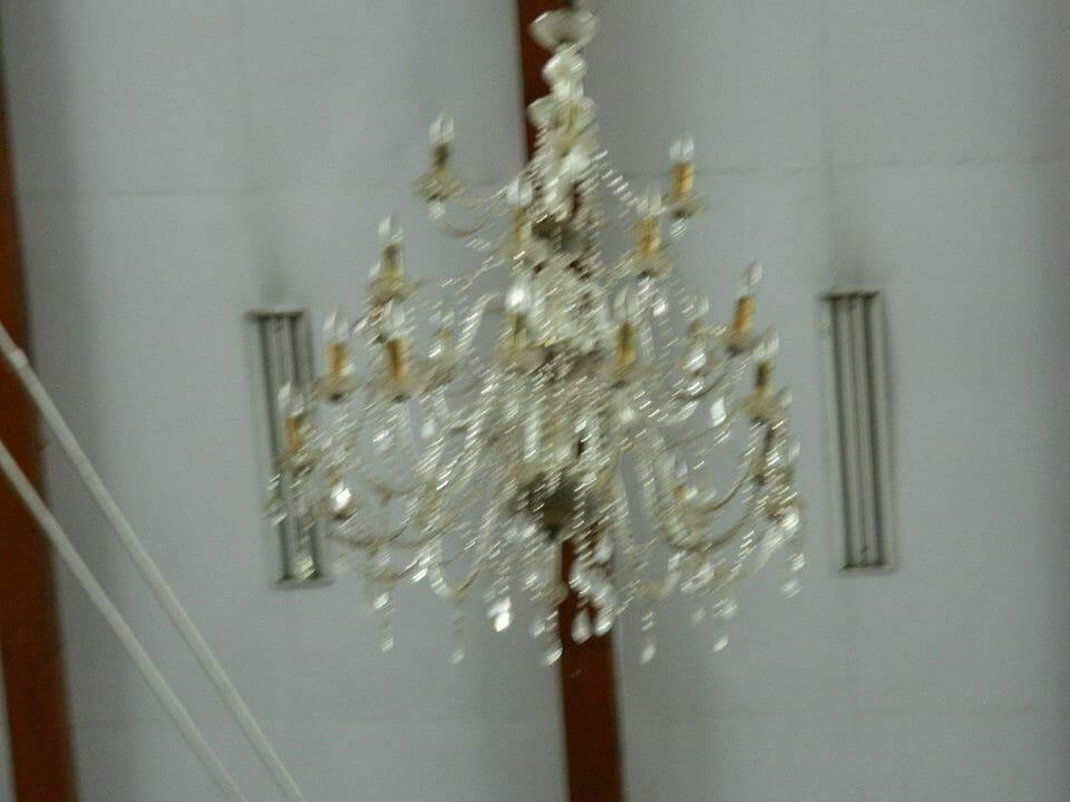 Cuci lampu kristal ibu Novi | Jasa Cuci Lampu Kristal
