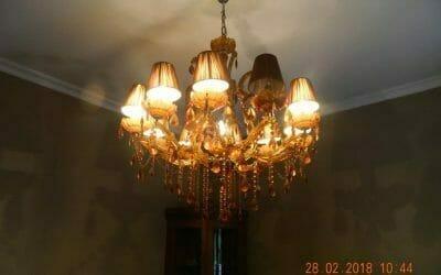 Cuci Lampu Kristal | Cuci Sofa | Cuci Springbed Ibu Luna