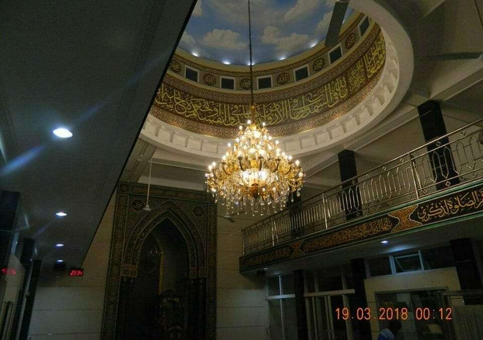 Cuci Lampu Kristal Masjid At Taqwa Perumahan Pondok Ungu Permai Bekasi