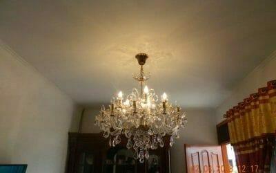 Cuci Lampu Kristal Ibu Suningsih Perum Taman Wisma Asri