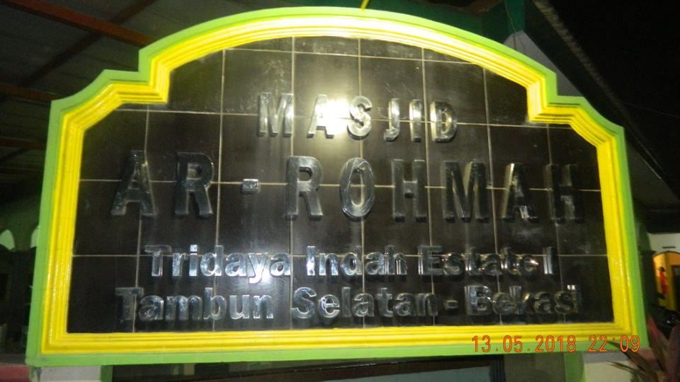 Cuci Karpet Masjid Ar Rohmah Perumahan Tridaya Indah Estate