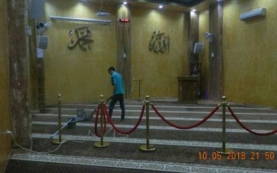 Cuci Karpet Masjid HAQI Hafidz Quran Indonesian School