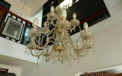 Cuci Lampu Kristal Ibu Maria Komplek Raflesia Jati Makmur Bekasi