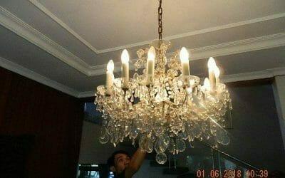 Cuci Lampu Kristal Ibu Julianti Pondok Labu Jakarta Selatan