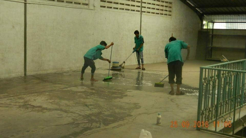 Cuci Lantai Gudang PT Garmindo Sukses Mandiri