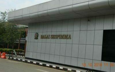 Pembersih Gedung | Cuci ACP Gedung Balai SESPIMMA POLRI