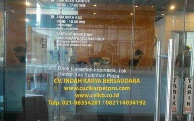 Cuci Karpet Kantor Bank Danamon Plasa Sudirman | Cuci Karpet