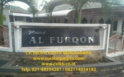 Cuci karpet masjid Al Furqon | Jasa Cuci Karpet Masjid