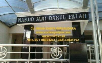 Cuci Karpet Masjid Jami Darul Falah Tebet | Jasa Cuci Karpet