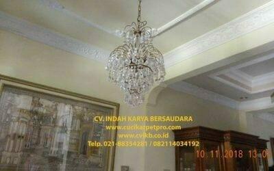 Cuci Lampu Kristal Bapak Syafri | Perum Pondok Pekayon Indah