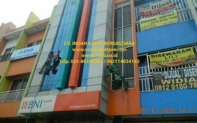 Pembersih Kaca Gedung | Cuci Kaca Gedung BNI Syariah Cibubur