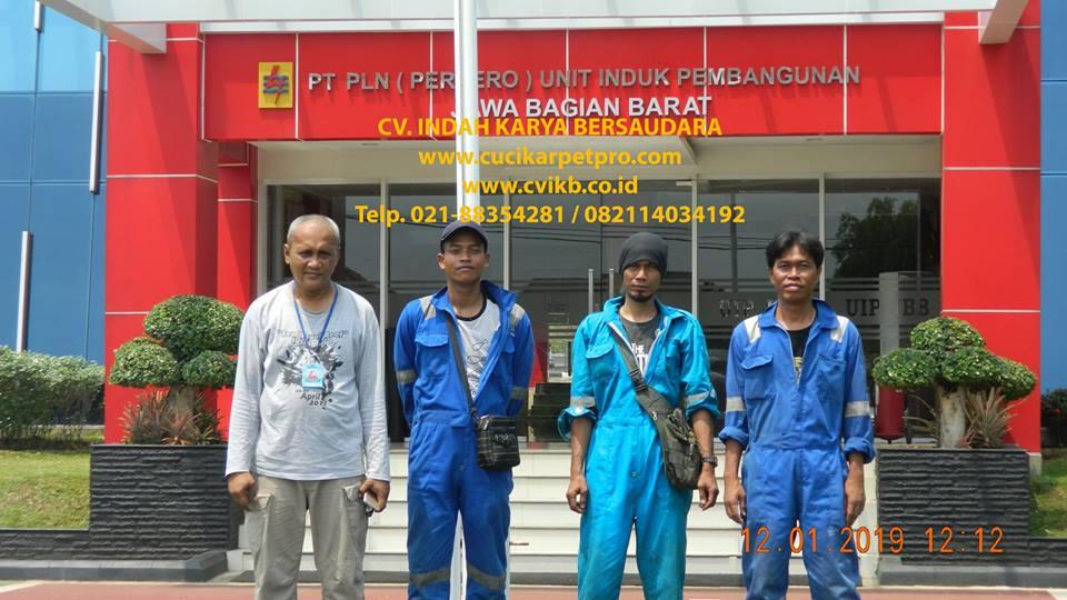 Pembersih Kaca Gedung PLN UIP JBB Gandul Cinere