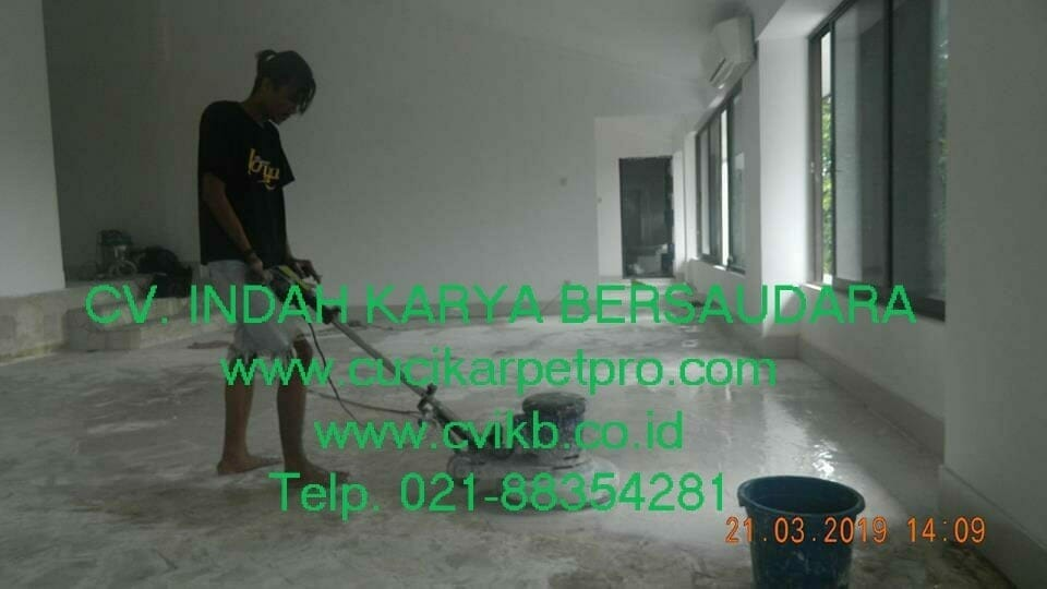 Jasa General Cleaning | Poles Marmer Cafe Garage Kedoya