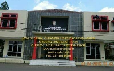 Jasa General Cleaning | Cuci Kaca Dan Lantai LEMDIKLAT POLRI