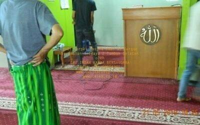 Cuci Karpet Masjid Jami Al Furqon Tridaya 2 Tambun Selatan