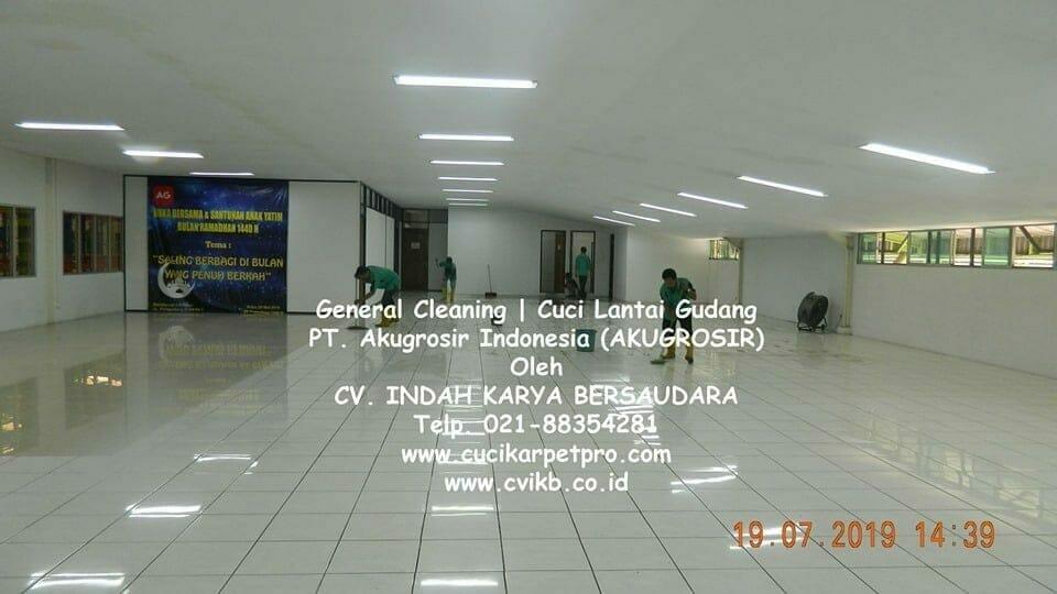 General Cleaning | Cuci Lantai Gudang AKUGROSIR