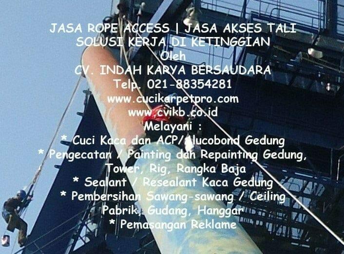 Jasa Rope Access | Jasa Akses Tali | Kerja Di Ketinggian