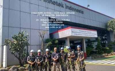 Jasa Rope Access | Cuci Kaca Gedung PT LG Innotek Indonesia