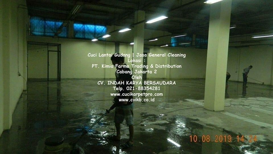 Cuci Lantai Gudang Kimia Farma | Jasa General Cleaning