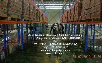 Jasa General Cleaning | Cuci Lantai Gudang AKUGROSIR
