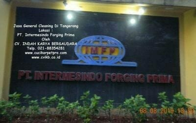 Jasa General Cleaning Di PT InterMesindo Forging Prima