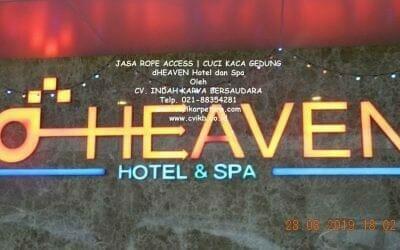 Jasa Rope Access | Cuci Kaca Gedung dHeaven Hotel Dan Spa