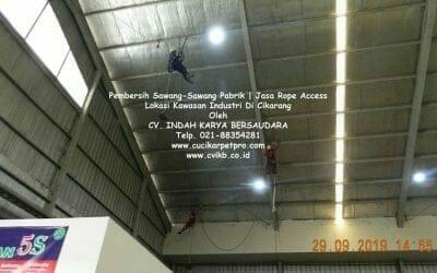 Pembersih Sawang-Sawang Pabrik | Jasa Rope Access