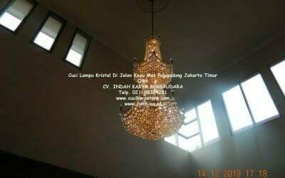 Cuci Lampu Kristal | Jalan Kayu Mas Pulogadung Jakarta Timur