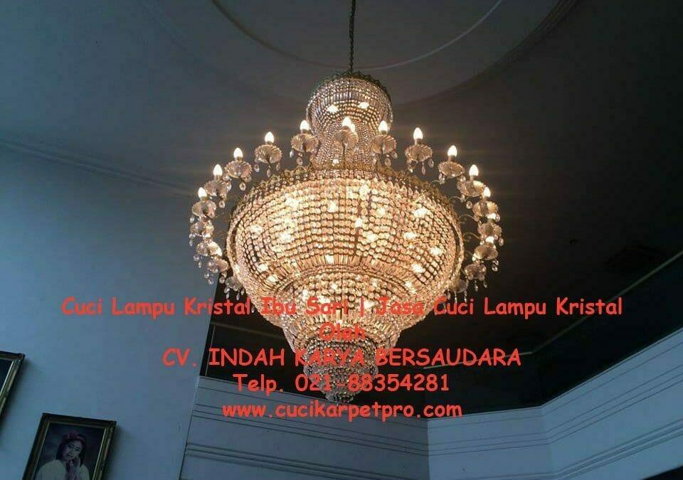 Cuci lampu kristal ibu Sari | Jasa Cuci Lampu Kristal