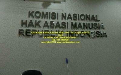 Cuci karpet kantor KomNas HAM | Jasa cuci karpet kantor
