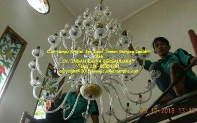 Cuci Lampu Kristal Ibu Dewi Taman Rempoa Indah Reorder Ke 2