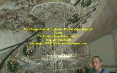Cuci Lampu Kristal Ibu Meike Pantai Indah Kapuk