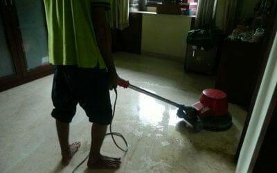 Cuci lantai marmer ibu Shinta | jasa poles lantai marmer