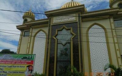 Cuci karpet masjid Nurul Iman Komplek Barata Bekasi Utara