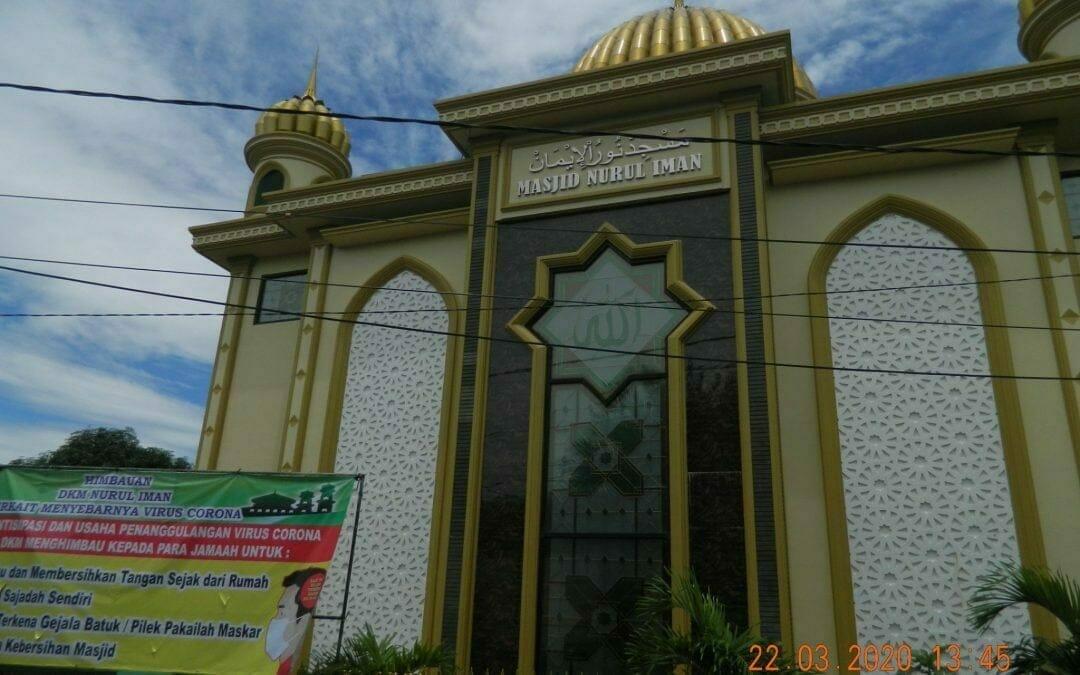 Cuci lantai masjid Nurul Iman komplek Barata Bekasi Utara