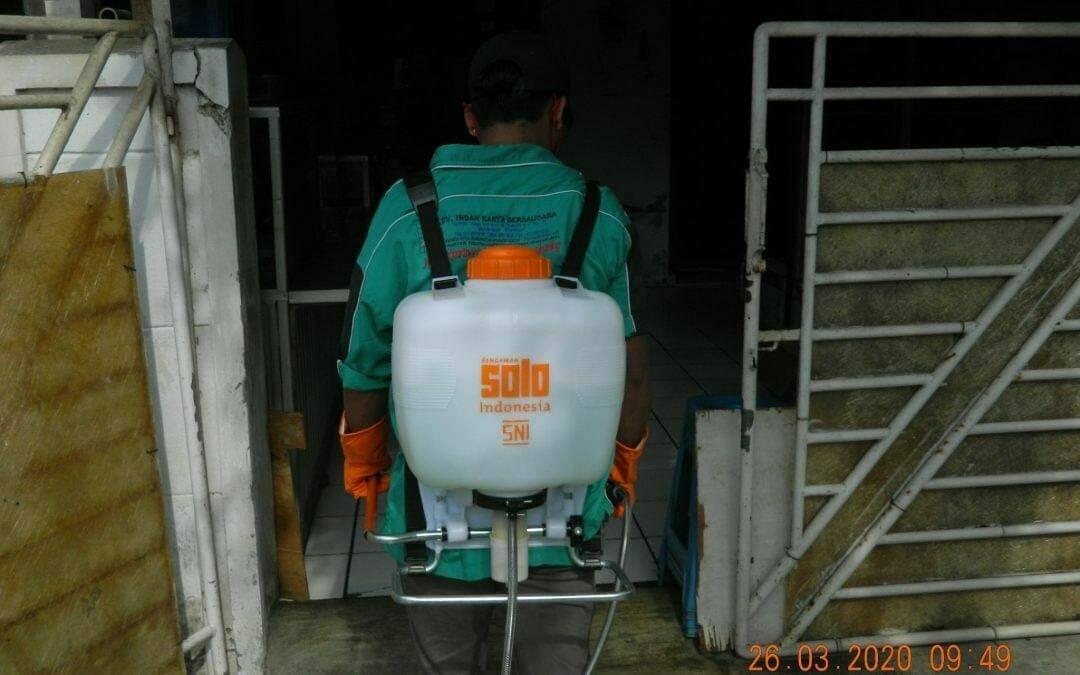 Penyemprotan Disinfektan RT 18 | 07 RW 04 Duren Jaya Permai