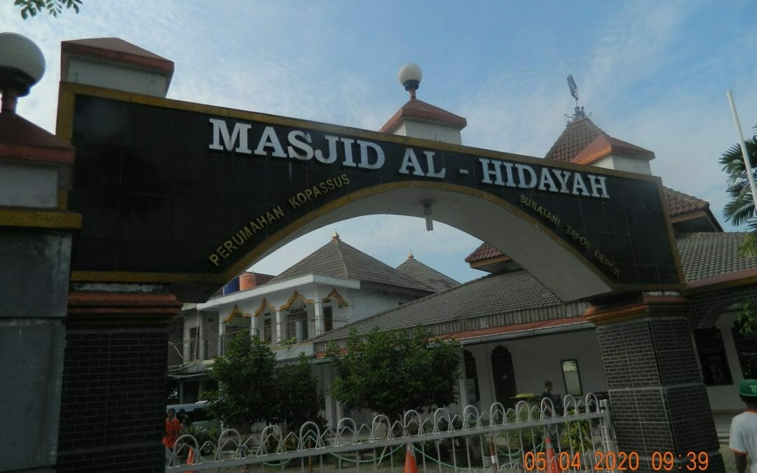 Cuci karpet masjid Al Hidayah Perumahan Kopassus Tapos Depok