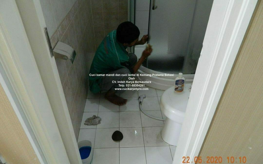 Cuci kamar mandi dan cuci lantai di Kemang Pratama Bekasi