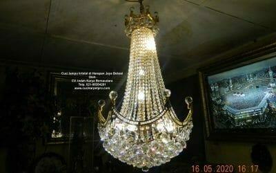 Cuci lampu kristal di Harapan Jaya Bekasi | Jasa Cuci Lampu