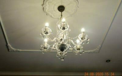 Cuci lampu kristal ibu Ayu Perum Griya Bintara Indah Reorder