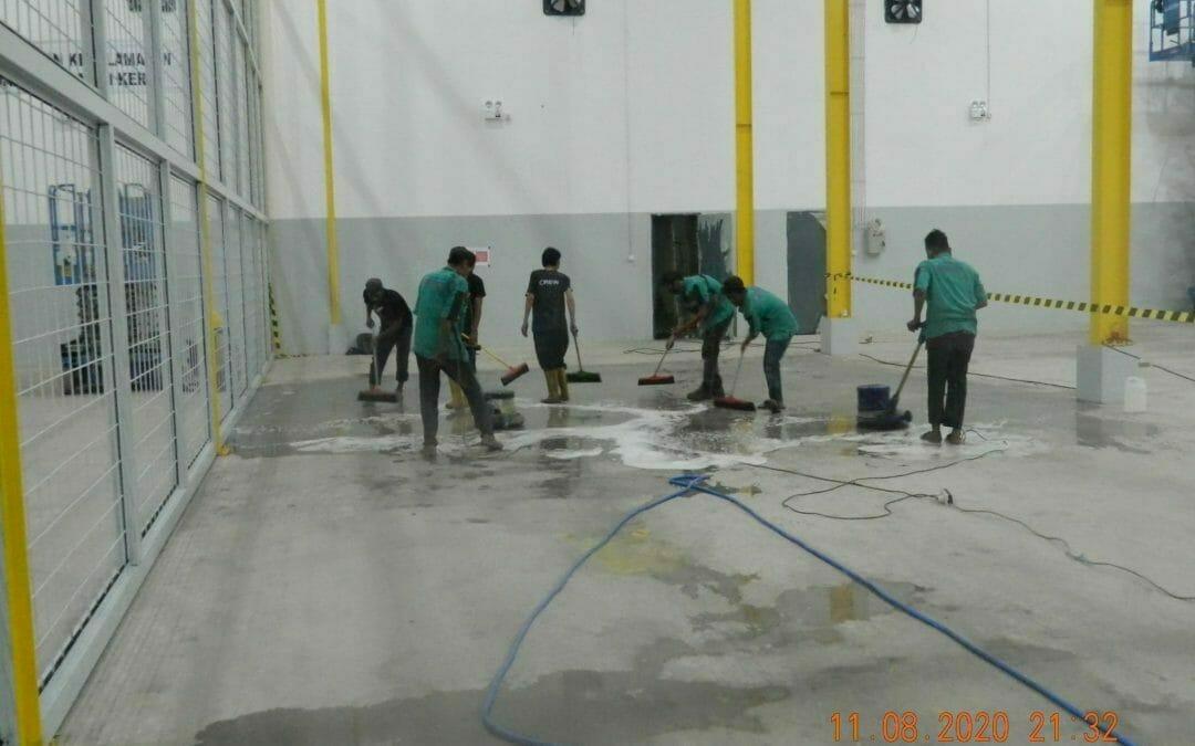 Cuci lantai gudang | Cuci gudang | Jasa general cleaning