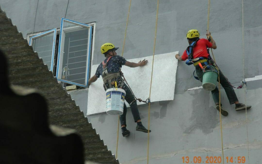Jasa pengecatan ruko di Buaran Duren Sawit | Hari ke-2