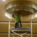 cuci lampu kristal birawa ballroom oleh Jasa Cuci Lampu Kristal gbr-21